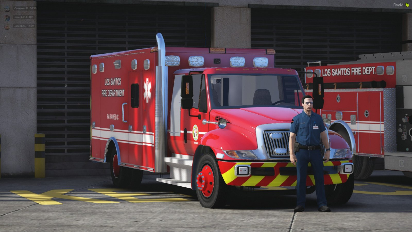 LSFD International Ambulance at Station 4 - Los Santos Fire