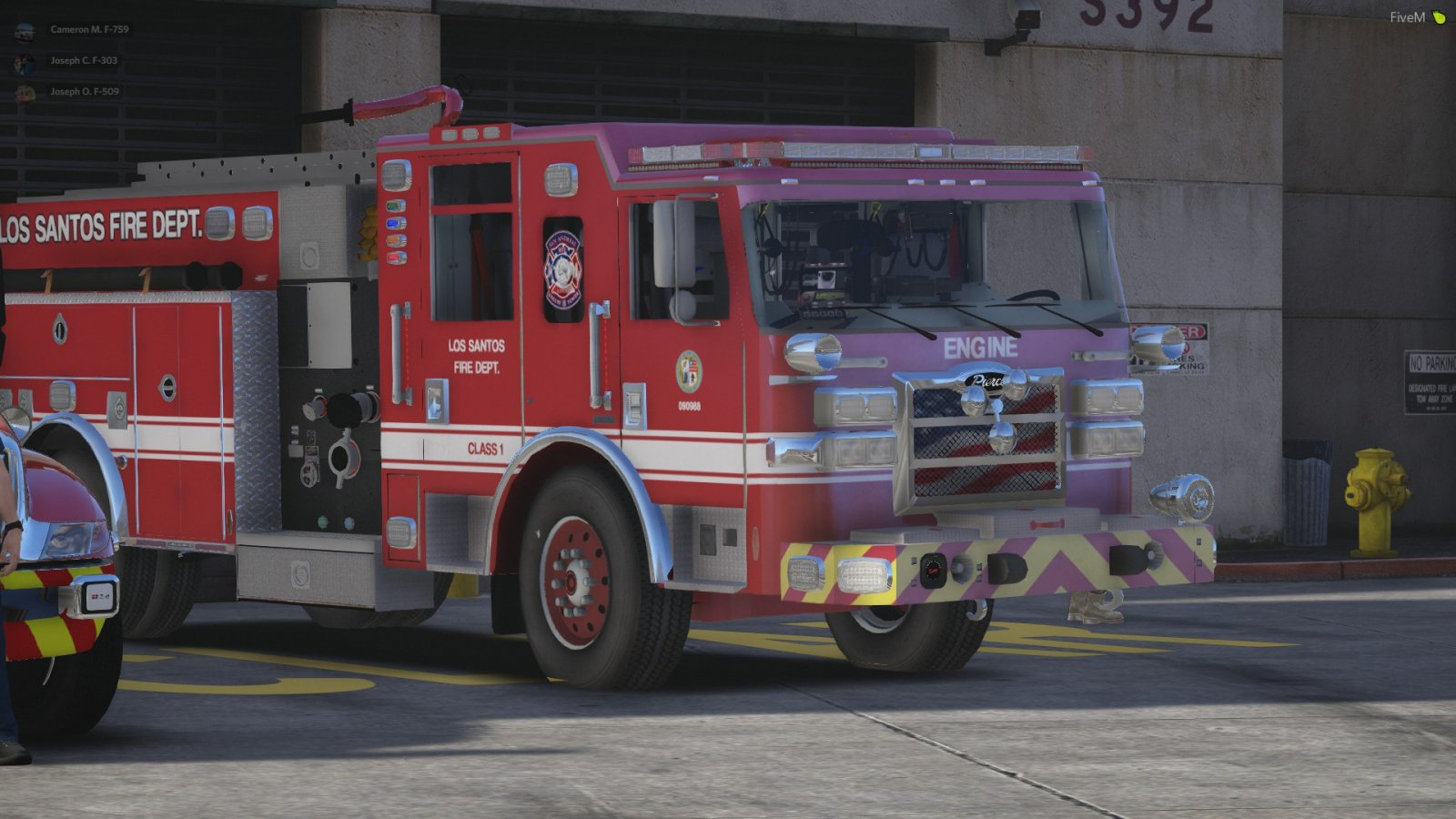 LSFD Engine at Station 4