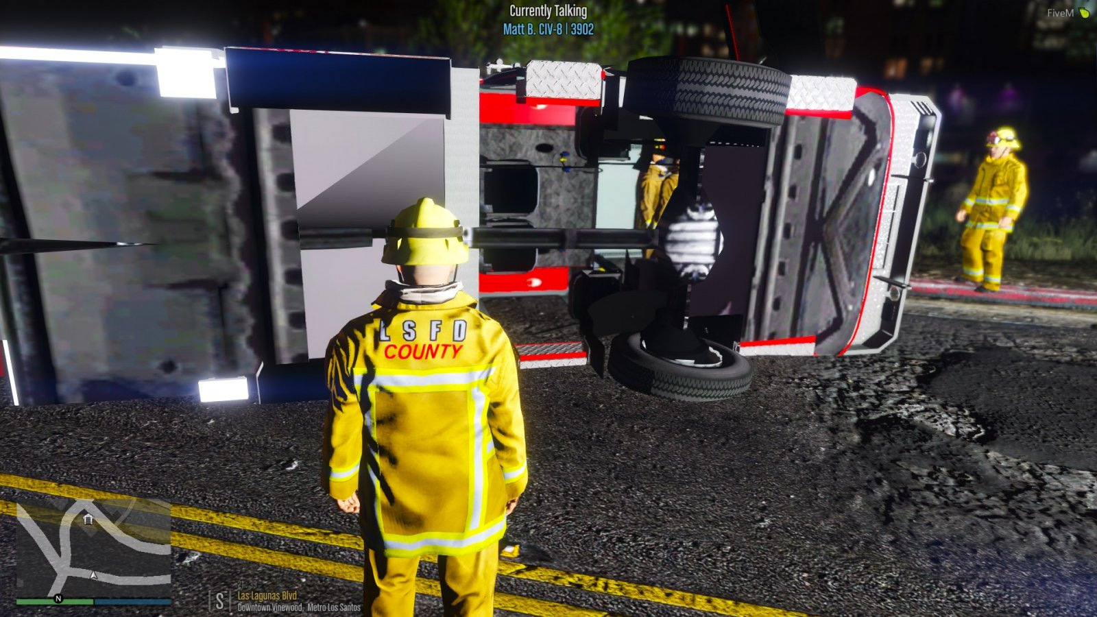Ladder 10 Rollover Accident