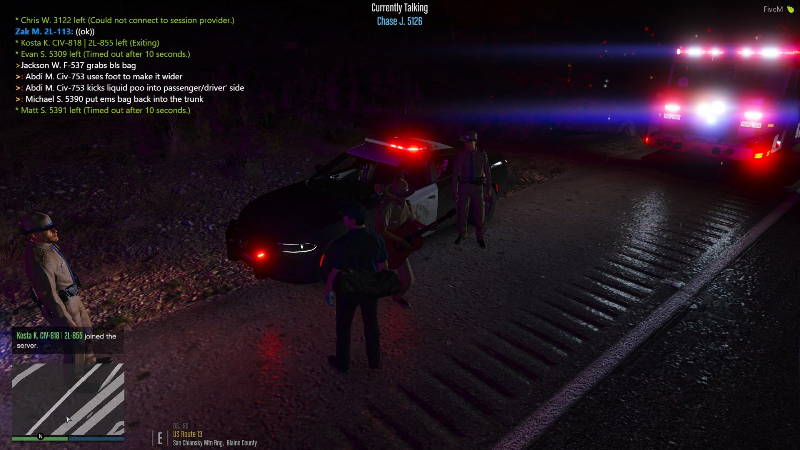 Assisting with San Andreas Highway Patrol