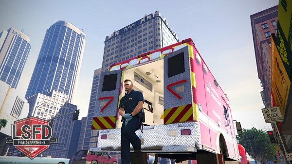 Here we have Station Supervisor Benjamin C. manning a critical care unit out of Station 7. He's presently staged at the corner of Vespucci and Power for a high rise rescue operation.