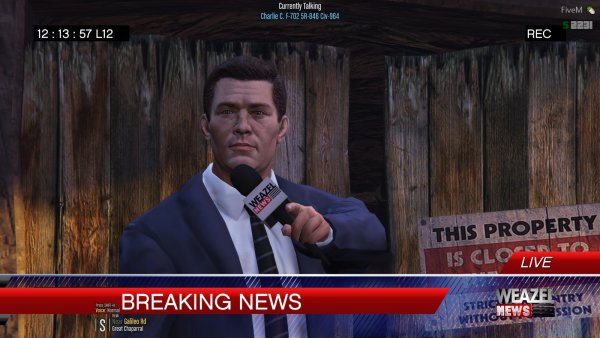 Charlie C. reporting on a Missing Person in the Cave behind him