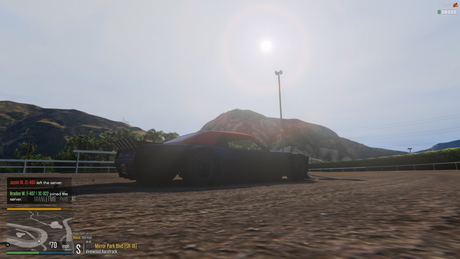 A day racing at the Vinewood Racetrack