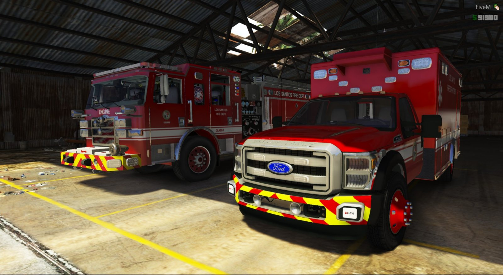 Fire Rescue on standby - San Andreas Communications Department