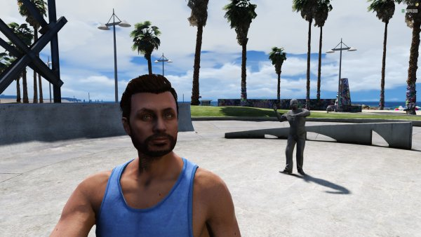 Tyler enjoying Vespucci beach!