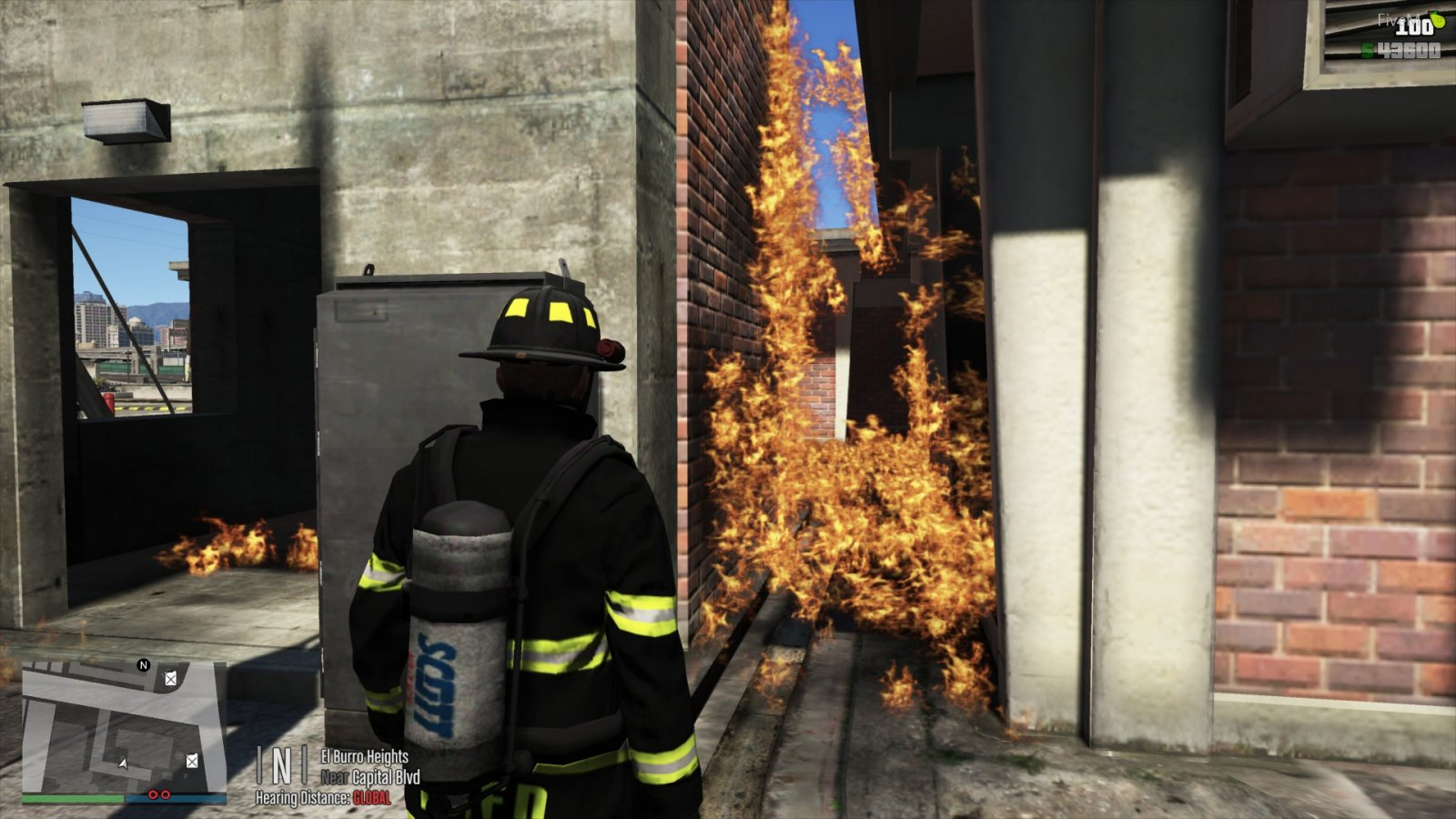 When a fire simulation goes wrong