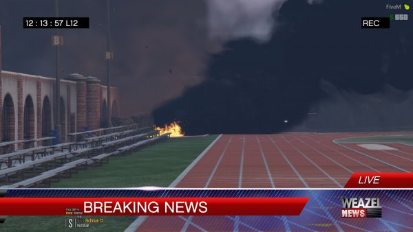 Arsonist incidents at the University of San Andreas!