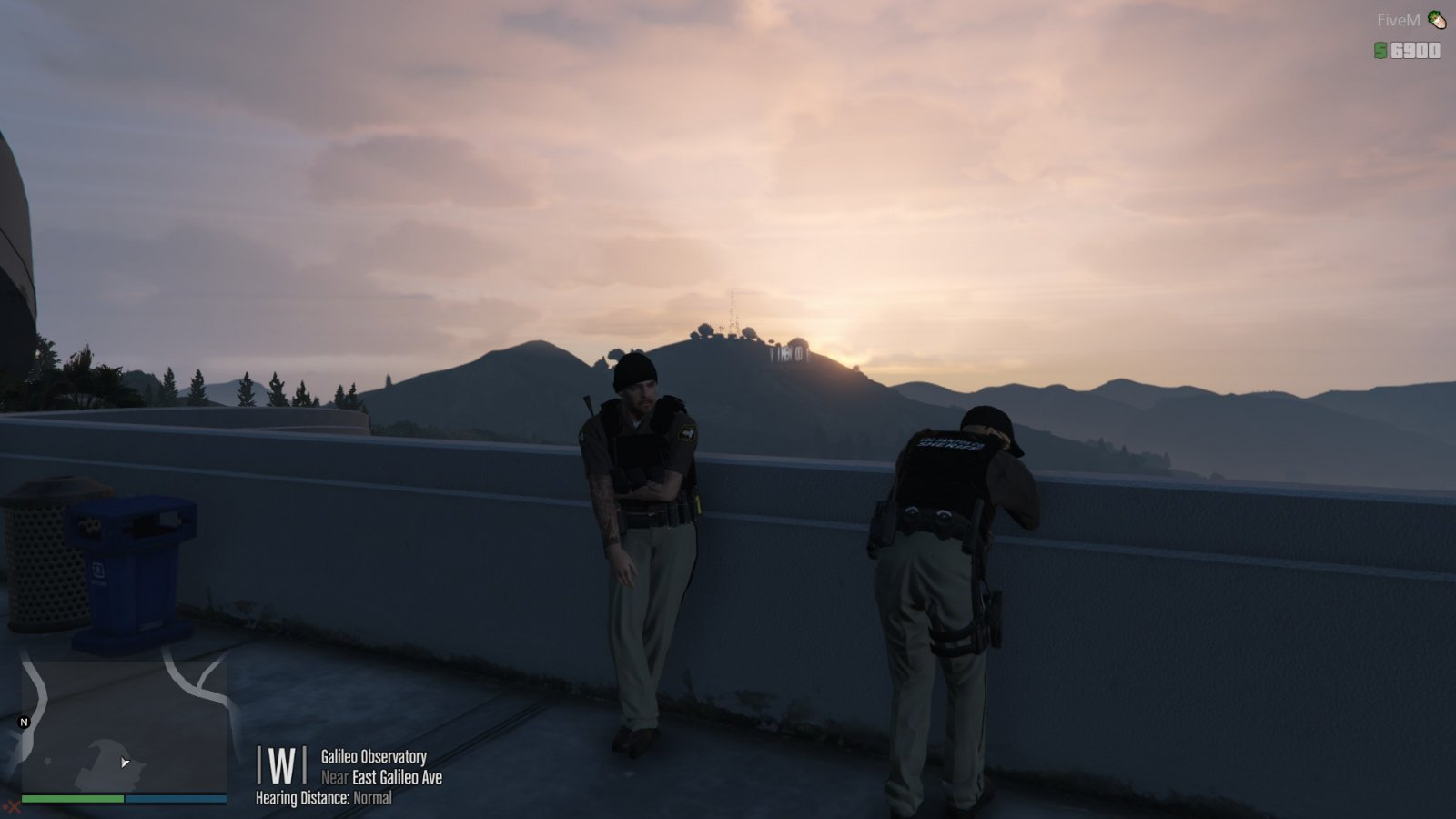 Sgt and I watching sunrise while on foot patrol