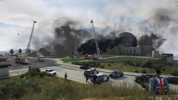 Fire at Vinewood Tristan C.Civ-133 watching