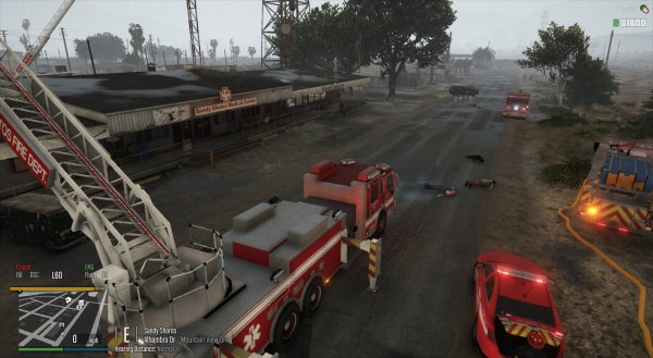 Sandy Shores Sheriff's Station Fire