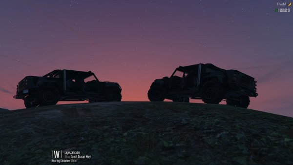 Jeep sunsets in Paleto