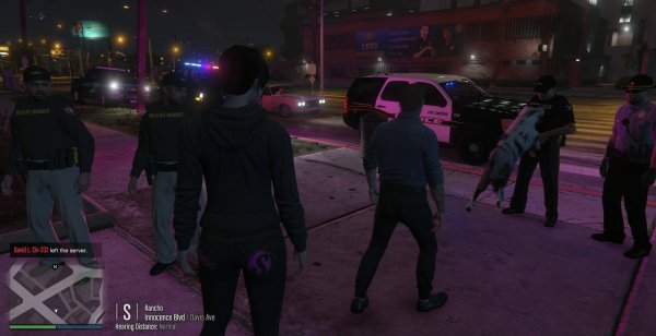 Charlie 2.0 bites Officer Andre S from the LSPD