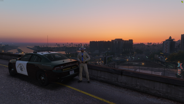 Highway Patrol Sunset That View