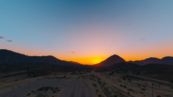 Nothing is better than when ther is peace in San Andreas and the sun is setting.