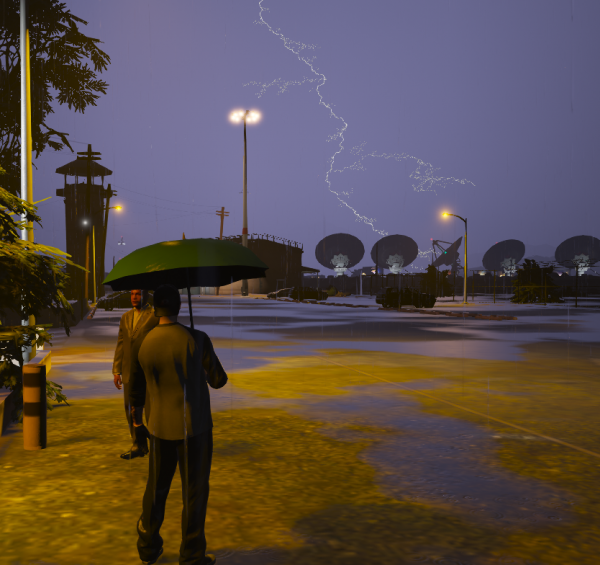 Extreme lighting storm