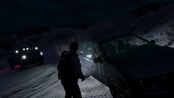 Inspecting an abandoned vehicle