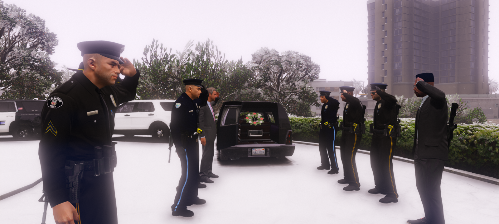 LSPD Funeral