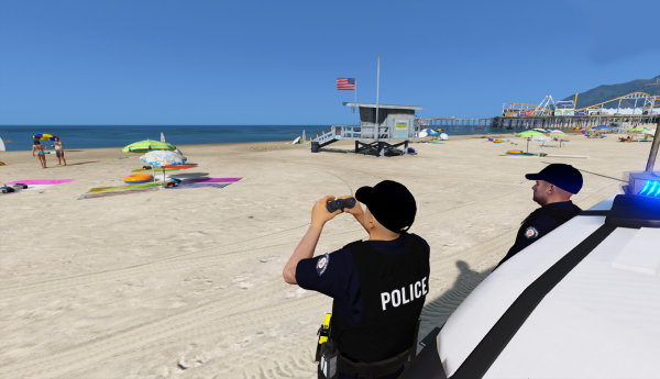 Patrolling the beach with Renier H.