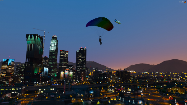 Parachuting in the city with Kaylee A. Civ-210