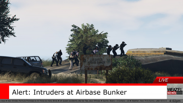 Intruders at Airbase Bunker