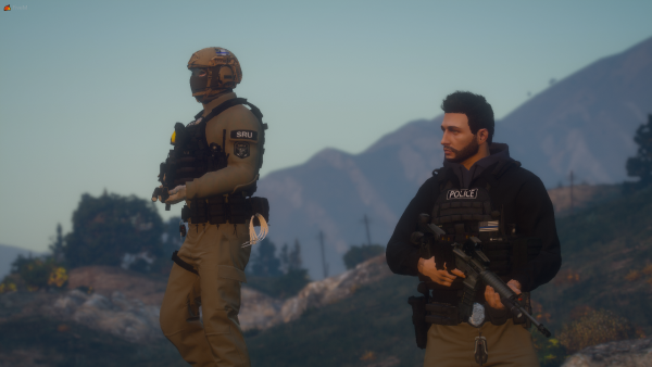 Helping out a brother in blue