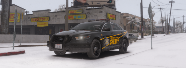 LCSO Taurus out in the Snow
