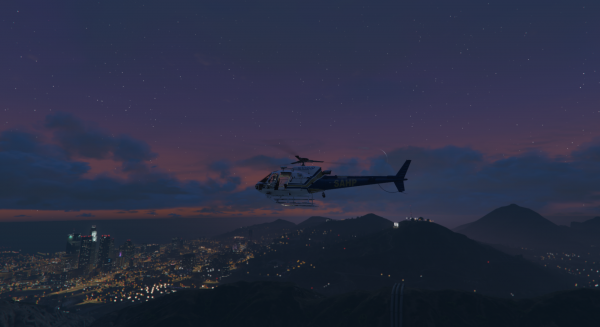 HP Heli and sunset