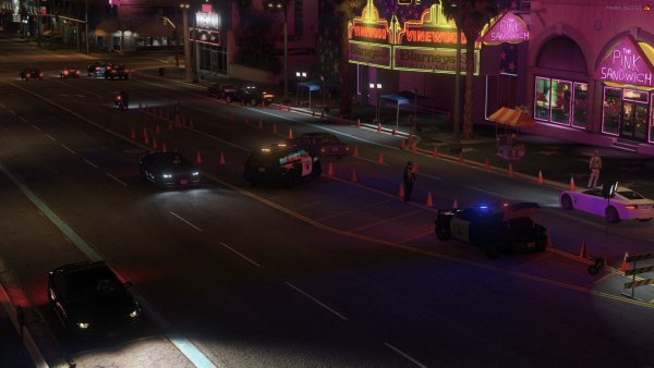 2ND Angle of a fantastic DUI Check point